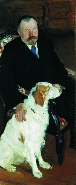 Портрет доктора С.Я.Любимова с собакой. 1905