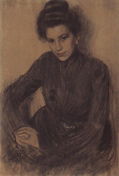 Портрет З.Е.Прошинской. 1901
