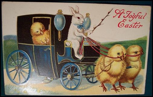 Винтажные пасхальные открытки.