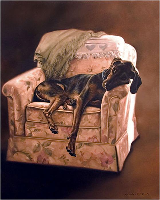Собачки от художницы Michele Amatrula. (559x700, 282Kb)