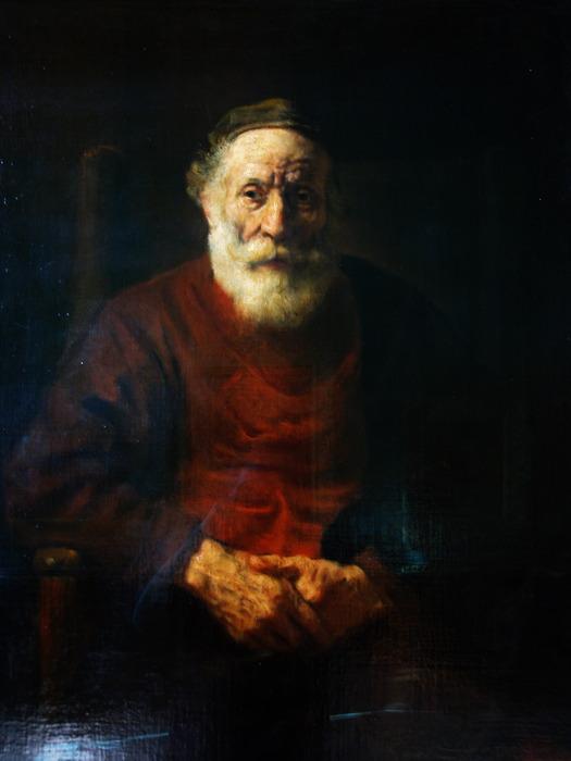 Портрет старика в красном рембрант