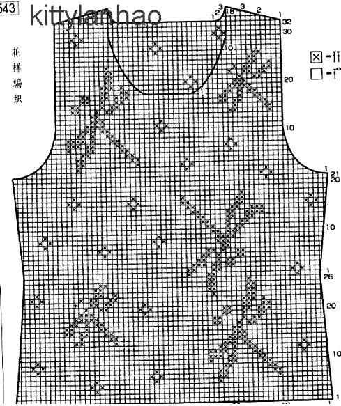 Филейное вязание как читать схему 70