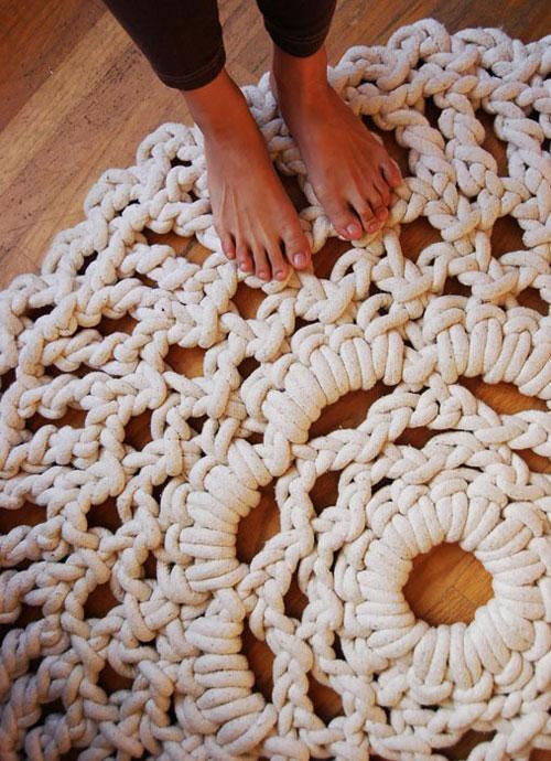 Коврики крючком, вязаные коврики крючком, коврик крючком схема 95