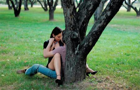 Секс на природе с девочкой
