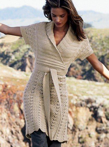 вязание спицами модели с осинки
