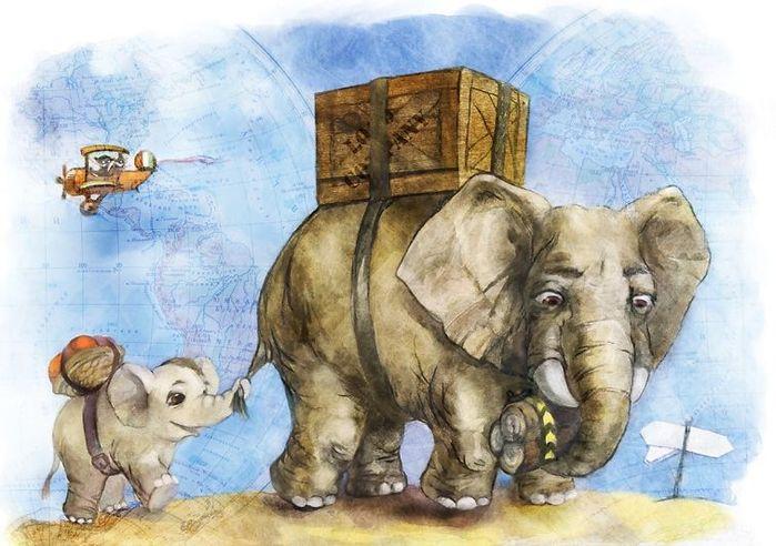 Пожелание открытках, день слона открытка