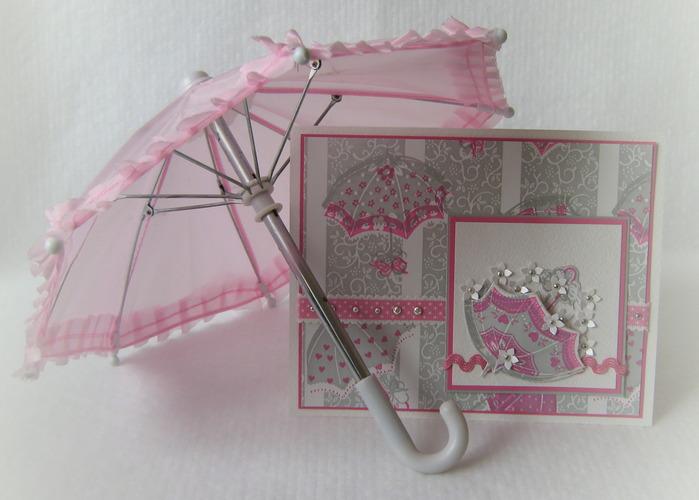 Открытка зонтик с цветами мастер класс, открытки хаит
