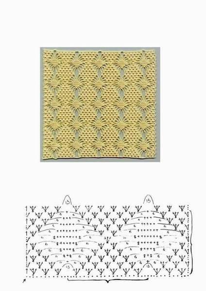 Красивые узоры со схемами для вязания крючком, узоры салфеток крючком.