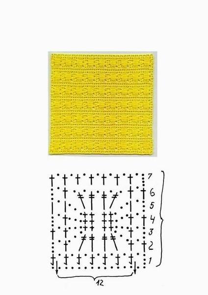 Красивые узоры со схемами для вязания крючком. узоры для вязания. и...
