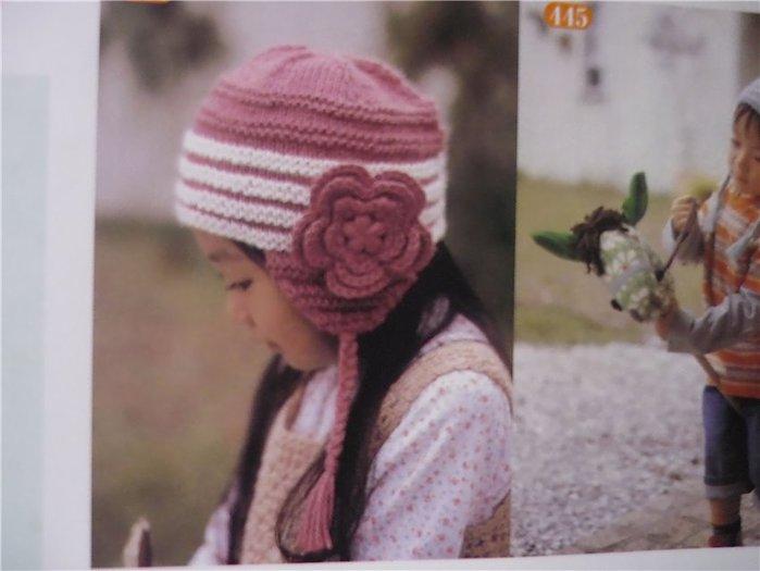 Вяжут на осинке. a. Зимние шапки с ушками для девочки.