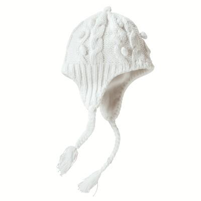 вязание шапки для девочек с ушками.
