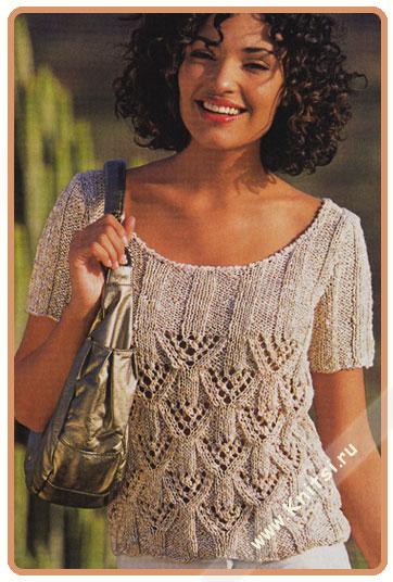 Рхемы вязания спицами женщины ажурный полувер кофта свитер. вязание...