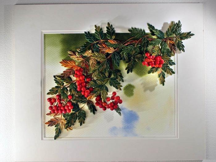 Картина, панно Квиллинг: Цветы.