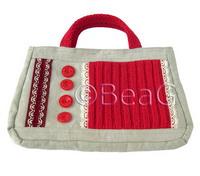 Вязаные сумки Голубая вязаная сумка. вязаные сумки : Вязание на oleksi...