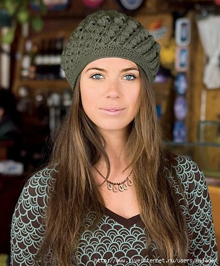 Комментарий: зимние шапки.беретки крючком. берет женский крючком схемы...