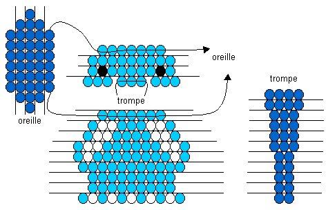 поделки из бисера со схемами для начинающих из маленького бисера.