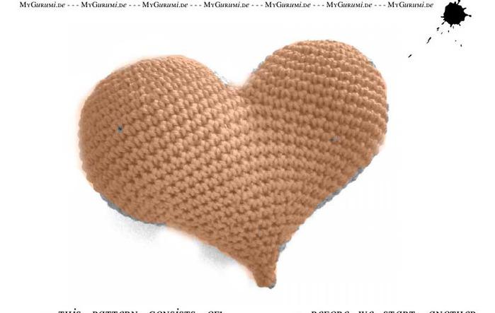 Размер сердечка 13*15 см. Вязаное сердечко крючком схема.