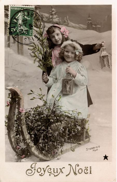 Старинные французские открытки фото, открытка обрезана