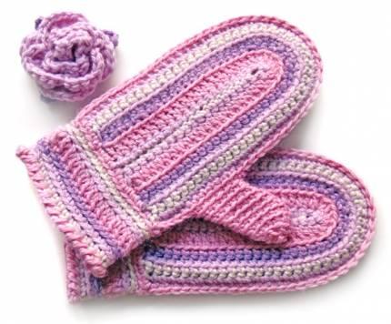 вязаные рукавицы с косами. схема вязания мужских варежек с косами.