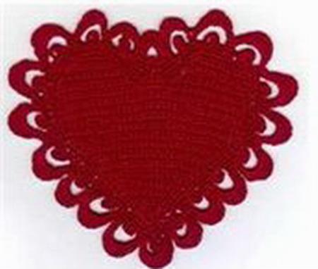 ажурное сердечко крючком схема