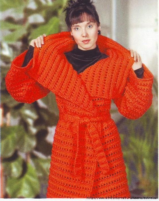 рукоделие вязание крючком пальто схемы бесплатно