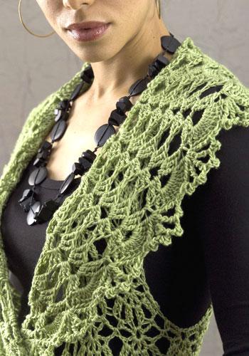 оригинальные шарфы спицами, вязание рачий шаг.