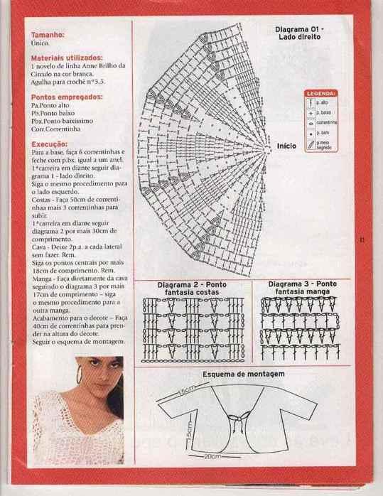 Вязание крючком болеро схемы бесплатно.  Модели вязанные крючком.