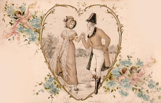 Днем воздушных, старинные любовные открытки