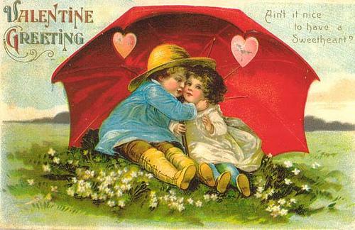 Винтажные открытки ко дню св. Валентина (дети)/ Vintage.