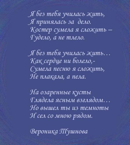 Я научилась жить без тебя стихи