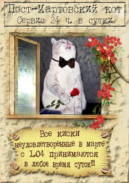 Открытки про мартовских котов с юмором, победы открытка английском