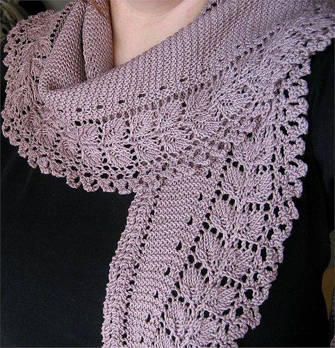 вязаный спицами мужской шарф схема описание, шарфик под пальто.