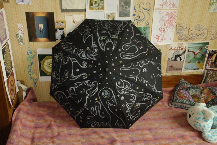"""...на поток  """"Зверушко """" -) и зонт на заказ  """"Алиса в стране чудес """"."""