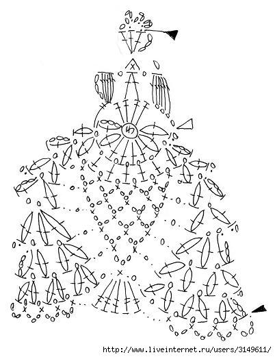 схемы вязания крючком листочков и цветочков. схемы листочков крючком.
