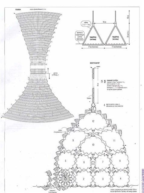 схемы вязания вязание крючком купальников со схемами