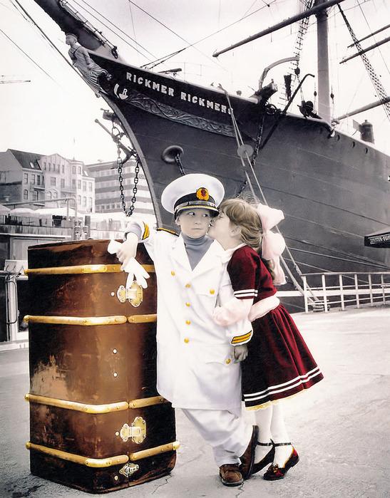 Корабль и капитан открытка