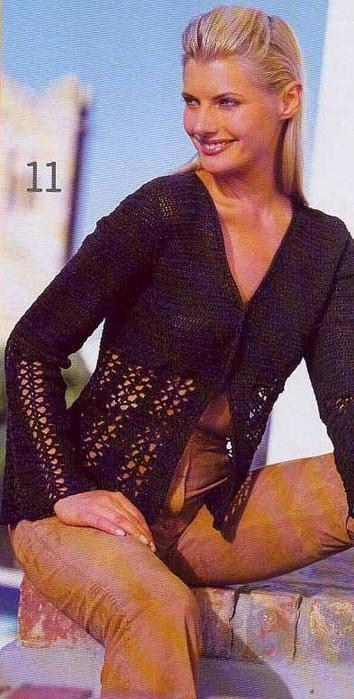 Жакеты, блузки, блузоны.  Вязание крючком Crochet.  Предыдущая.