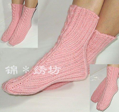 Схема вязания носков спицами.