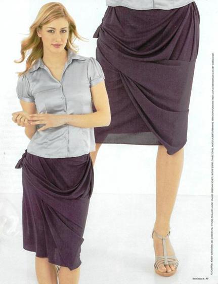 Как быстро сшить модную юбку - Кройка и шитье...