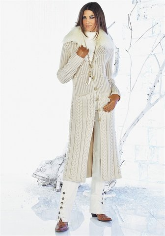 Описание: Вязаный кардиган пальто схема Вязаные пальто, модели вязания.