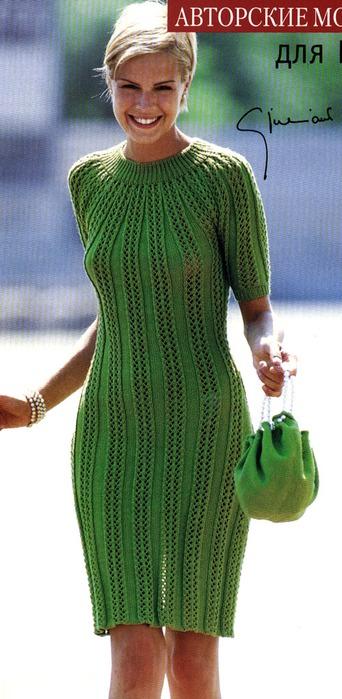 Read more. вязаные платья спицами Вязание спицами и крючком - Азбука...
