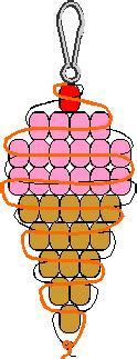 Схемы брелоков из бисера.
