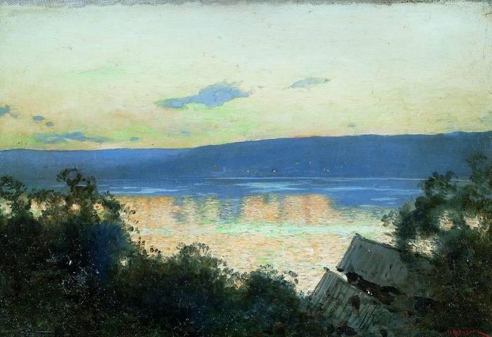 Вечер озеро
