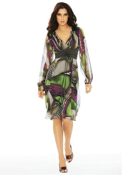 Комментарий: Платье из шифона.  H060419X - Платья - MODA-ELEGANT.