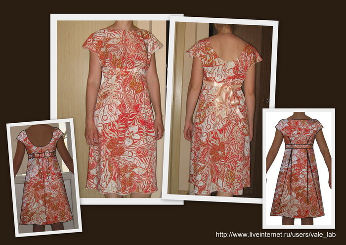 Эскизы платья в стиле ретро.  Эскизы работ платьев.