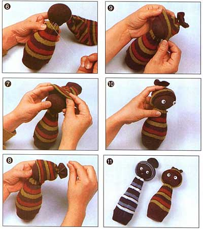 Что можно сделать из детских носков без пары.  Кукол, например.