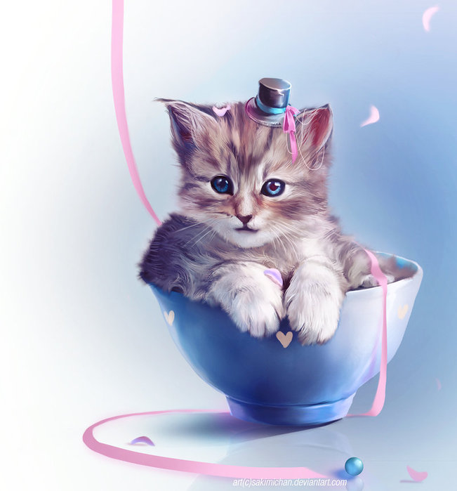 Т.г, живая открытка кошка в банке