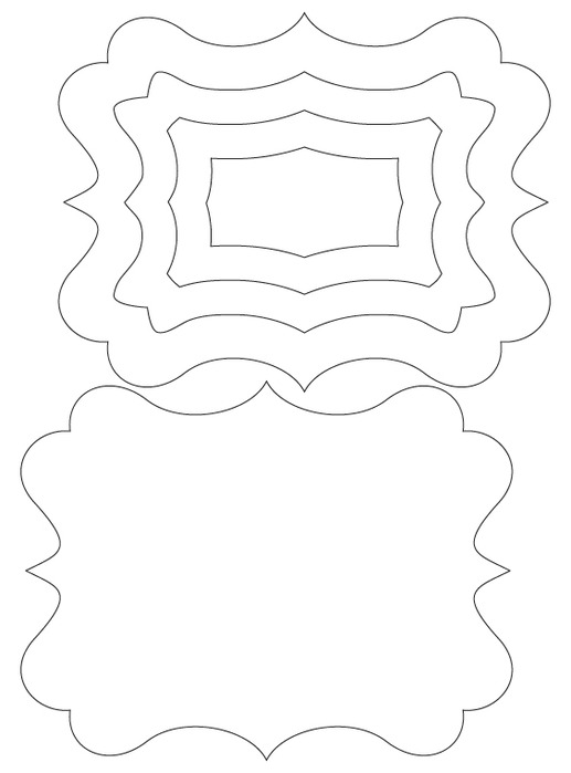 Красивая форма для открытки