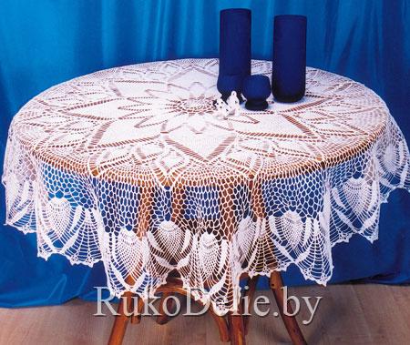 мир вязания вязание круглой скатерти крючком схемы