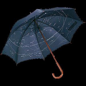 Большое изображение Двухслойный зонт-трость с картой звездного неба.